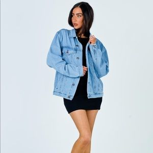 Princess Polly WESTERN DENIM JACKET PALE BLUE